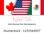 vector flags of nafta countries ... | Shutterstock .eps vector #1192564057