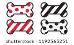 dog bone christmas strip polka... | Shutterstock .eps vector #1192565251