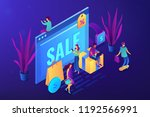 browser window with sale and... | Shutterstock .eps vector #1192566991