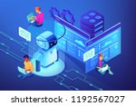 robotics developers team with... | Shutterstock .eps vector #1192567027