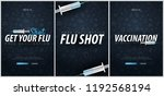set of vaccination banners. get ... | Shutterstock .eps vector #1192568194