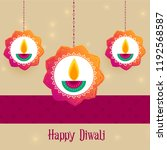 creative diwali festival... | Shutterstock .eps vector #1192568587