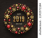 2019 new year greeting... | Shutterstock .eps vector #1192572184