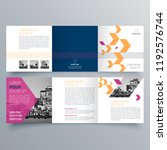 brochure design  brochure... | Shutterstock .eps vector #1192576744