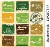 collection of eco and bio labels | Shutterstock .eps vector #119257849