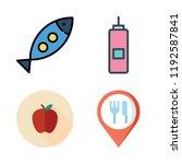apple icon set. vector set... | Shutterstock .eps vector #1192587841