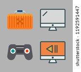 controller icon set. vector set ... | Shutterstock .eps vector #1192591447