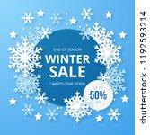 winter sale banner. origami...   Shutterstock .eps vector #1192593214