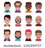 set of avatar icons | Shutterstock .eps vector #1192599757