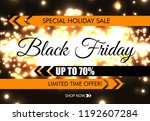 black friday glow sparkling web ... | Shutterstock .eps vector #1192607284