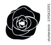 black silhouette of rose | Shutterstock .eps vector #1192612051