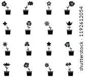 flower icon set | Shutterstock .eps vector #1192612054