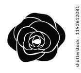 black silhouette of rose | Shutterstock .eps vector #1192612081