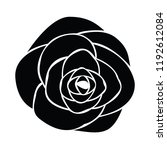 black silhouette of rose | Shutterstock .eps vector #1192612084