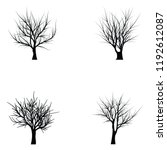 collection of trees silhouettes | Shutterstock .eps vector #1192612087