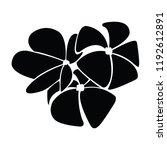 frangipani of silhouette | Shutterstock .eps vector #1192612891