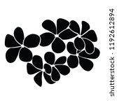 frangipani of silhouette | Shutterstock .eps vector #1192612894