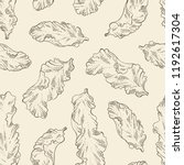 seamless pattern with porphyra  ... | Shutterstock .eps vector #1192617304