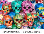 Decorated Colorful Skulls ...