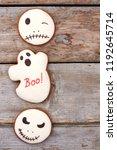 halloween gingerbread cookies...   Shutterstock . vector #1192645714