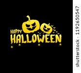 happy halloween text banner....   Shutterstock .eps vector #1192650547