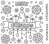Merry Christmas. Coloring Page...