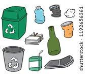 vector set of recycle garbage | Shutterstock .eps vector #1192656361