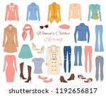 female fashion set. women's... | Shutterstock .eps vector #1192656817