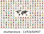 all countries flags of the... | Shutterstock .eps vector #1192656907