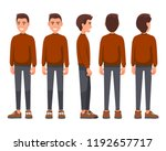 vector illustration of smiling... | Shutterstock .eps vector #1192657717