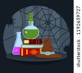 magical books  poisonous potion ... | Shutterstock . vector #1192659727