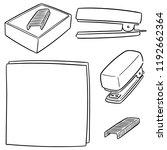 vector set of stapler | Shutterstock .eps vector #1192662364