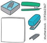 vector set of stapler | Shutterstock .eps vector #1192662367