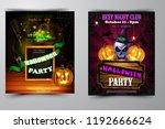 halloween party invitation on... | Shutterstock .eps vector #1192666624