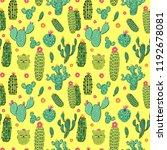 seamless vector pattern  desert ... | Shutterstock .eps vector #1192678081