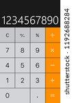 calculator vector illustration...   Shutterstock .eps vector #1192688284