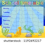 school timetable with marine... | Shutterstock .eps vector #1192692217
