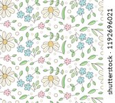 floral seamless pattern with... | Shutterstock .eps vector #1192696021