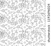floral seamless pattern with... | Shutterstock .eps vector #1192696024