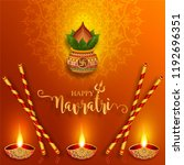 happy navratri festival card... | Shutterstock .eps vector #1192696351