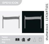 chequered race flag flat black... | Shutterstock .eps vector #1192697101
