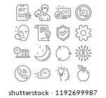 set of online test  approved... | Shutterstock .eps vector #1192699987