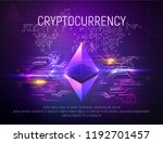 bright ethereal ethereum mining ... | Shutterstock .eps vector #1192701457