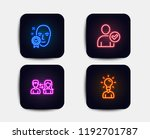 neon glow lights. set of face... | Shutterstock .eps vector #1192701787