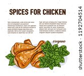 culinary spice for chicken ... | Shutterstock .eps vector #1192704514