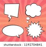 retro expression empty comic... | Shutterstock .eps vector #1192704841