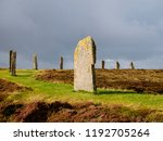the ring of brodgar in orkney ... | Shutterstock . vector #1192705264