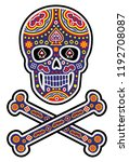 holy death  day of the dead ... | Shutterstock .eps vector #1192708087