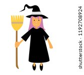 halloween witch illustration... | Shutterstock .eps vector #1192708924
