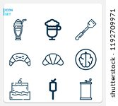 simple set of  9 outline icons... | Shutterstock .eps vector #1192709971
